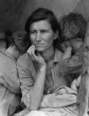 Dorothea Lange - Migrant Mother / Heimatlose Mutter