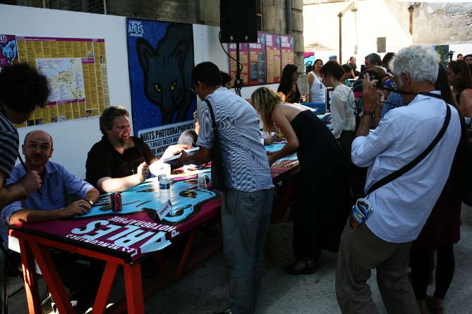 Book Signig beim Les Rencontres d&#039;Arles 2012